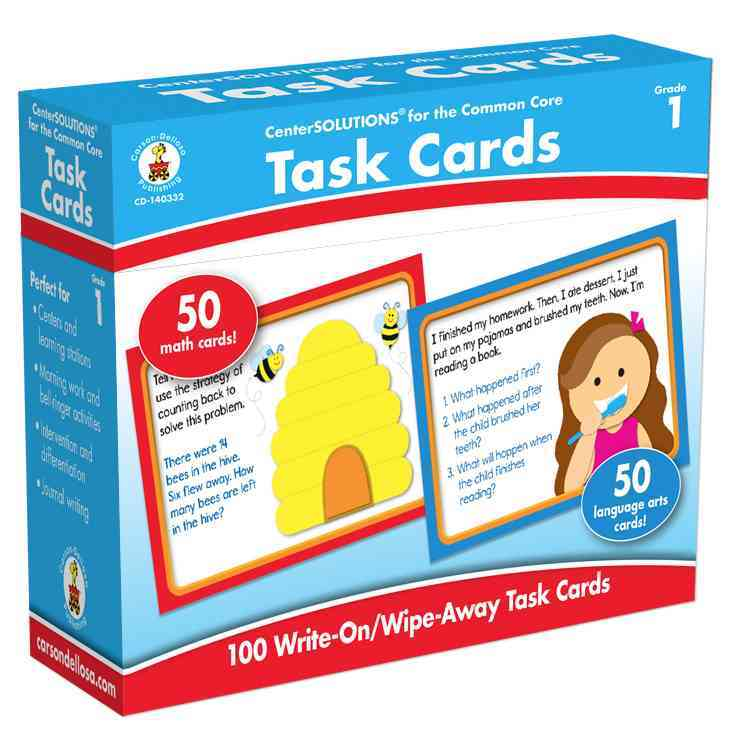 Task Cards Learning Cards, Grade 1 By Carson-Dellosa Publishing Company, Inc. (COR)